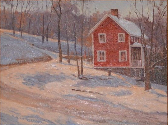 """Red House on a Hill"" Paul Bachem"