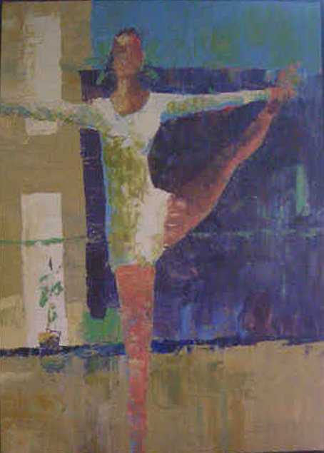 Italo George (Barrel) Botti, dancer or                 gymnast painting