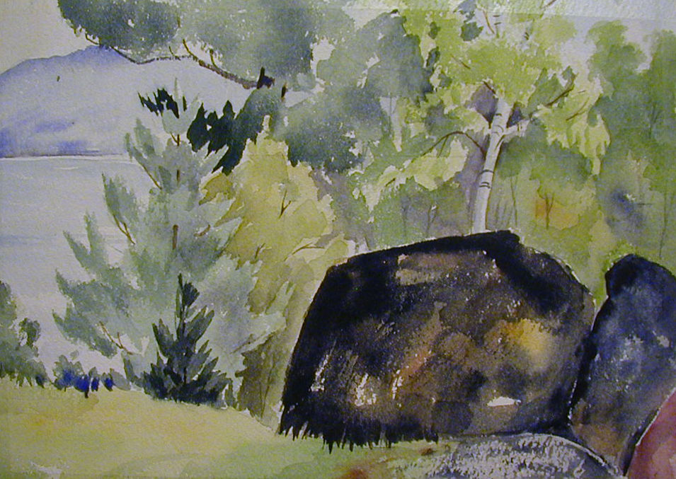 Ruth Strickling Lake                   watercolor