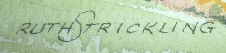 Strickling signature