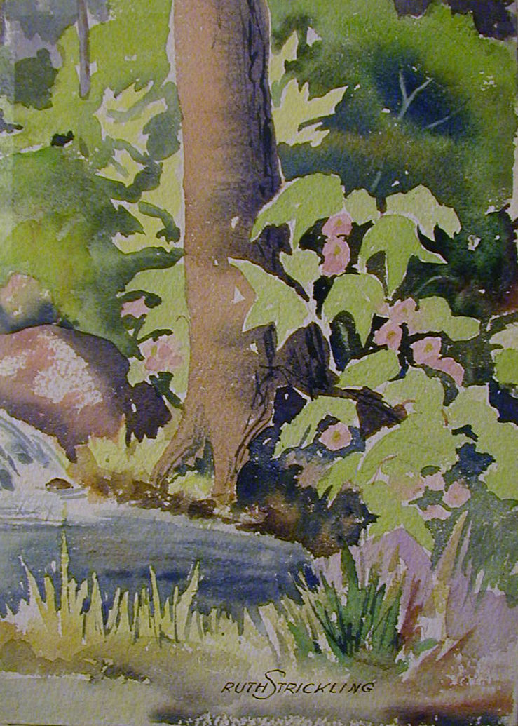Strickling Trees                   watercolor