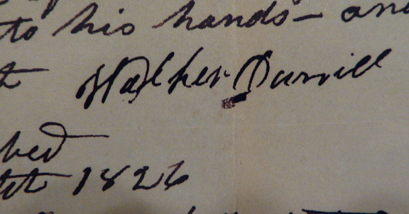 Walker                   Daniel signature from Joseph King probate